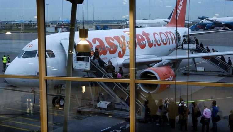 Vertrek van een vliegtuig van EasyJet op Schiphol. Foto ANP Beeld