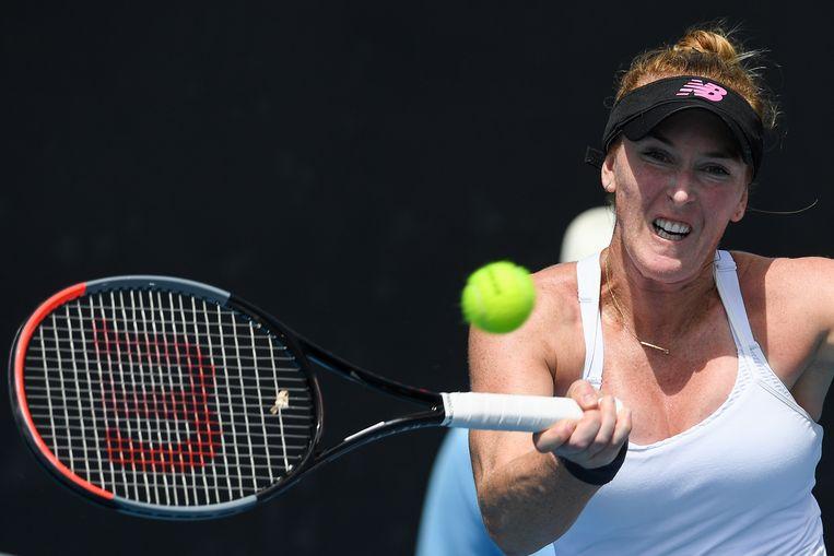 Madison Brengle speelt samen met Yana Sizikova, die van fraude wordt verdacht.  Beeld Hollandse Hoogte / AFP