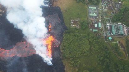 Lava Kilauea bereikt uithoeken geothermische stroomcentrale Hawaï