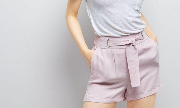 New Look, Lilac Tie Waist Shorts, € 14,99
