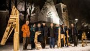 Veertig verlichte ramen brengen stukje Brueghel naar Hove