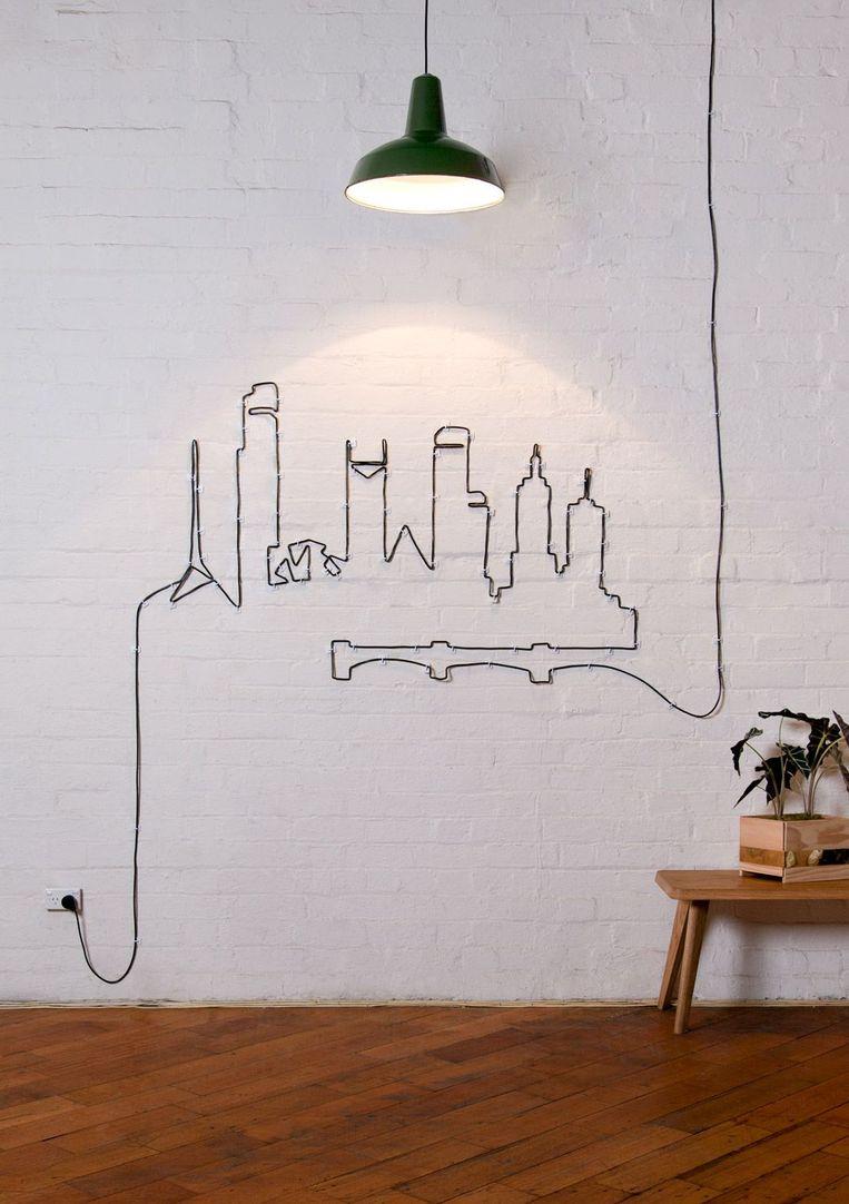 Maak zelf een muurdecoratie met clips.