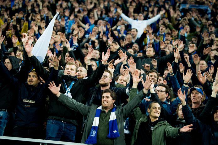 (Archiefbeeld) Supporters van KAA Gent in betere tijden.