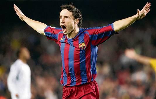 Mark van Bommel in het shirt van FC Barcelona.