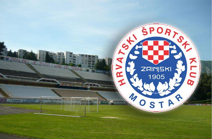 Het stadion van HSK Zrinjski.