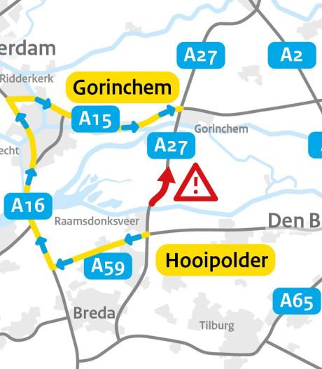 A27 weer vrij bij Geertruidenberg richting Gorinchem na ongeluk