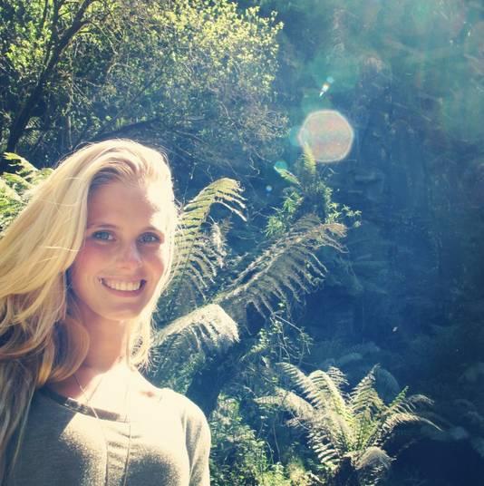 Zilla liet zich fotograferen in de Vlindertuin van Artis