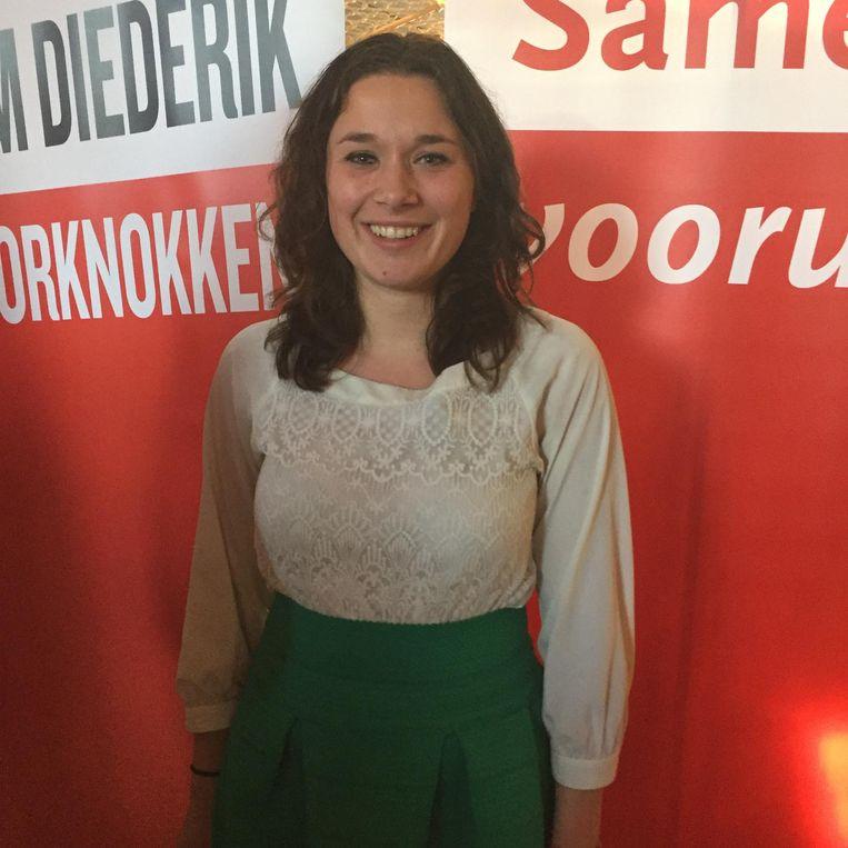 Lieke Kuiper, landelijk voorzitter van de Jonge Socialisten. Beeld