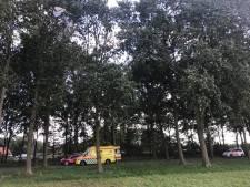 Kitesurfster op strand Horst eindigt in boom
