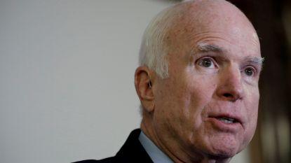Zieke McCain wil niet dat Trump naar zijn begrafenis komt