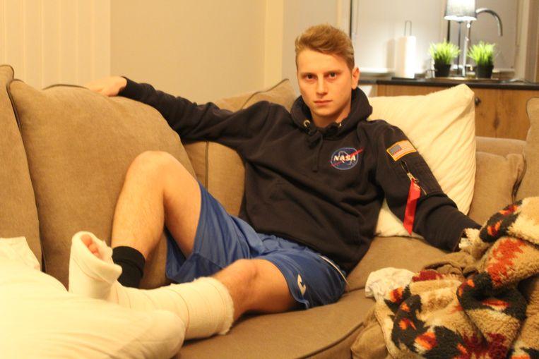 Robbie Ringoet (21) moet maandenlang revalideren.