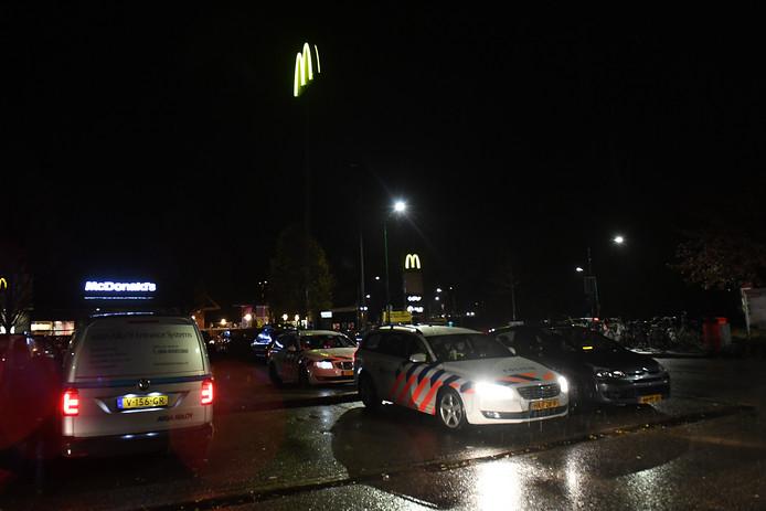 Er was veel politie aanwezig in Katwijk en Cuijk