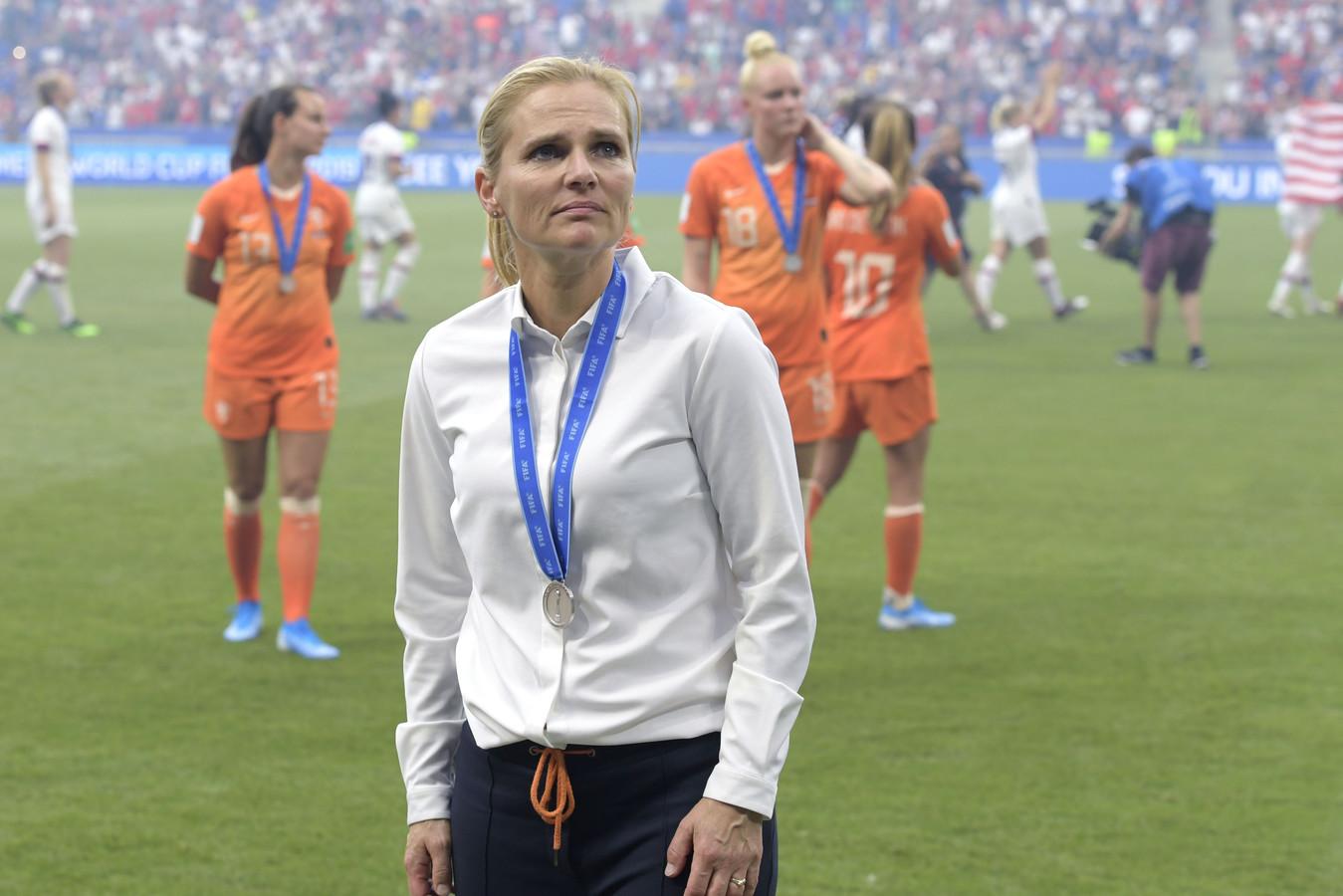 Sarina Wiegman na afloop van de verloren finale.