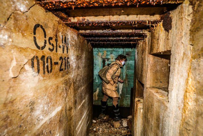 De bunker onder het afgebroken casino werd woensdag voor het eerst geopend.