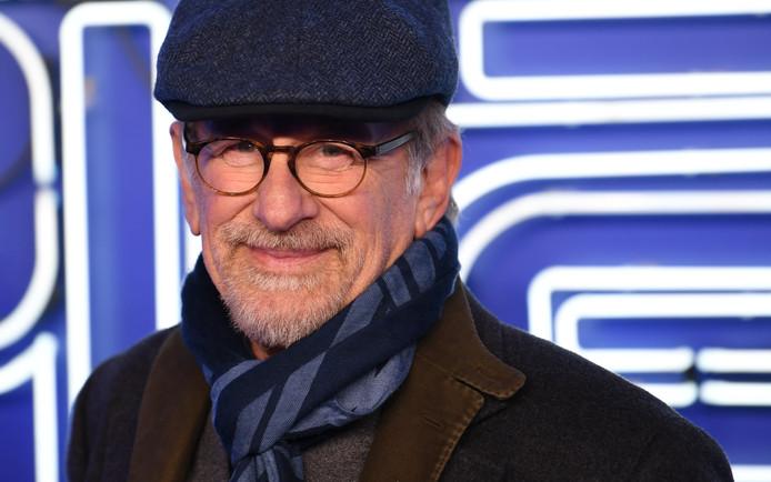 """Steven Spielberg à l'avant-première de """"Ready Player One"""", à Londres, le 19 mars."""