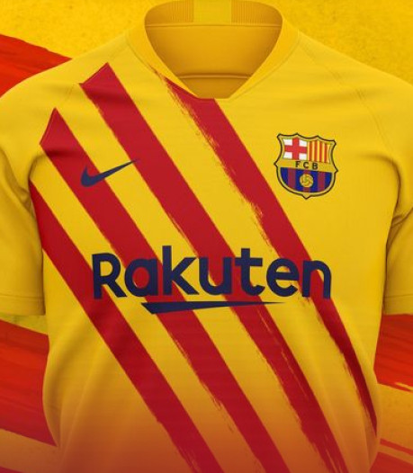 Barcelona zet Catalaanse vlag op shirt