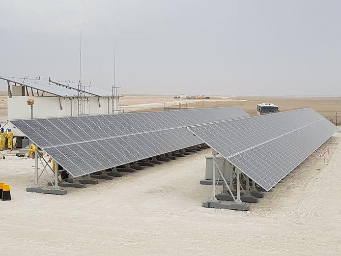Zonne-energiesysteem van TSS4U in de Verenigde Arabische Emiraten.