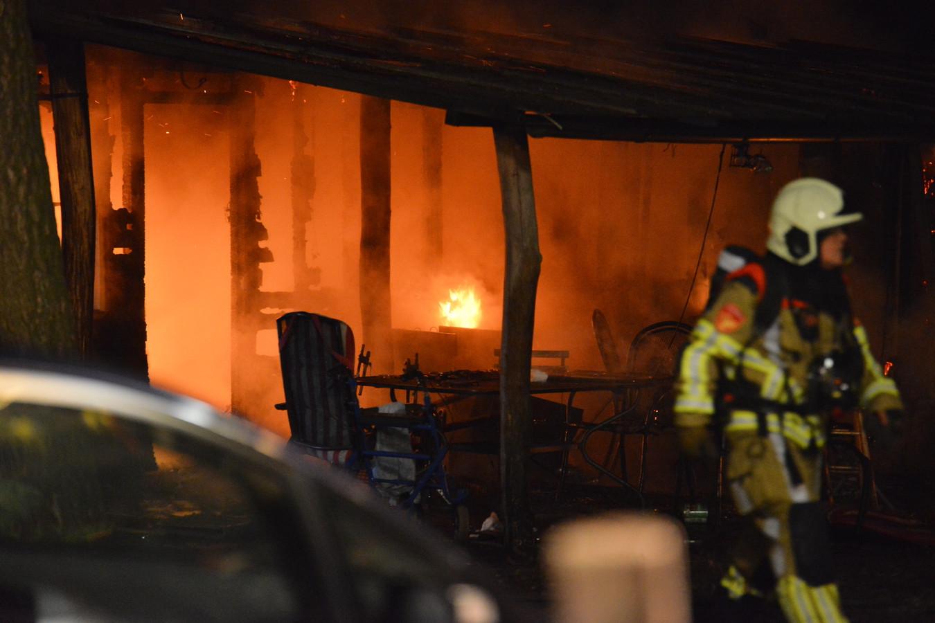 Woningbrand in Strijbeek.