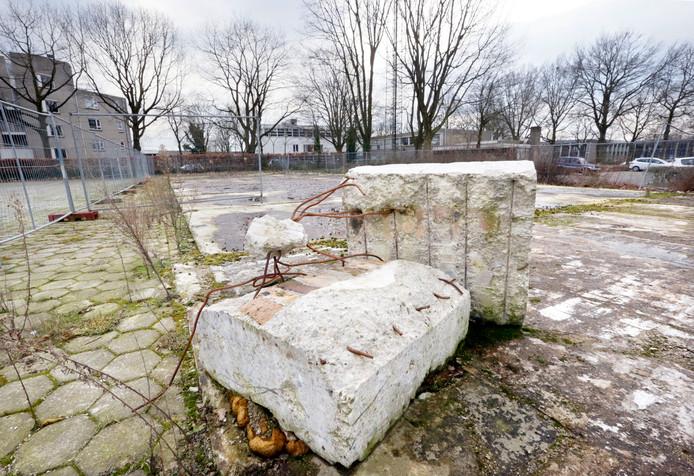 Restanten van de oude brandweerkazerne in Oosterhout (archieffoto).