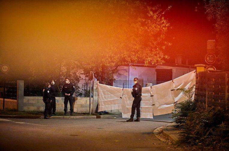 Het gebied rond de plaats delict is afgezet.  Beeld Getty Images