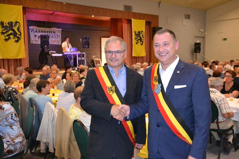 Burgemeesters Marc Wijnants en Peter Reekmans