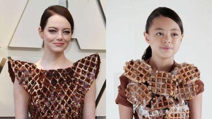 Meisje van 9 kopieert looks van sterren met huishoudproducten