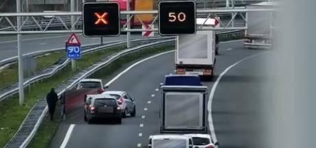 Ongeluk met vier auto's op A2 in Eindhoven