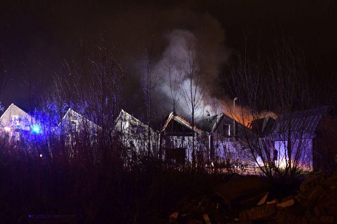 Brand bij oud Tweka-gebouw in Geldrop.