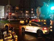 Gewonde en ravage na botsing Audi TT, VW Golf en Mitsubishi in Gouda