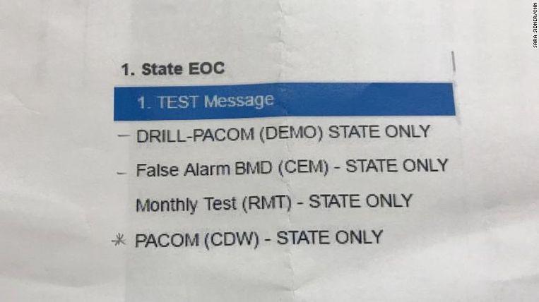 Een sjabloon van 'vals alarm' werd ondertussen toegevoegd aan communicatiescherm van EMA op Hawaï.