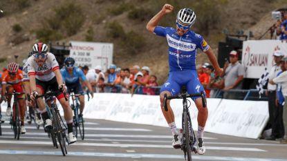 """Alaphilippe wint tweede rit in San Juan, Evenepoel pakt na puike prestatie trui voor beste jongere: """"Zwaarste kilometer uit mijn leven"""""""