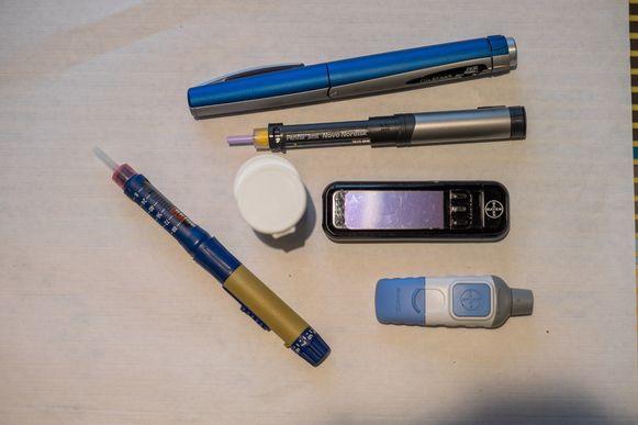 Meetapparatuur voor diabetespatiënten.