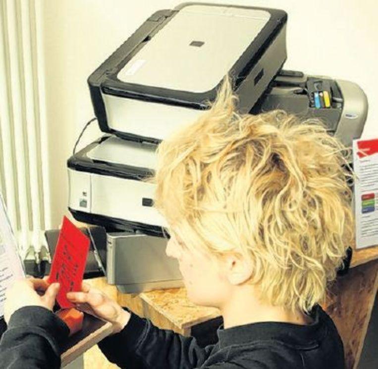 null Beeld Bij de printer zorgt de toner voor problemen