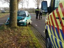 Auto knalt frontaal tegen boom in Collendoorn