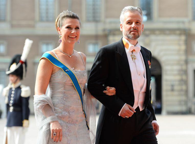 Prinses Martha Louise en Ari Behn in 2015. Beeld AFP