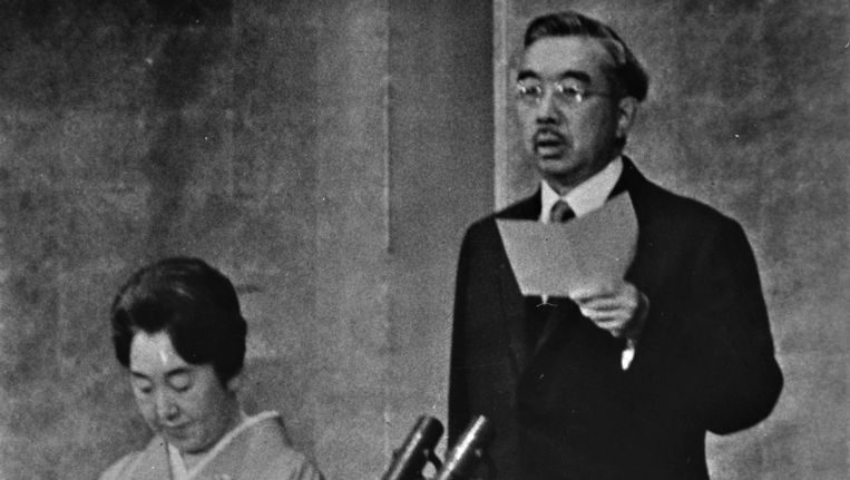 Keizer Hirohito (1901-1989) en keizerin Nagako (1903-2000) in 1964.