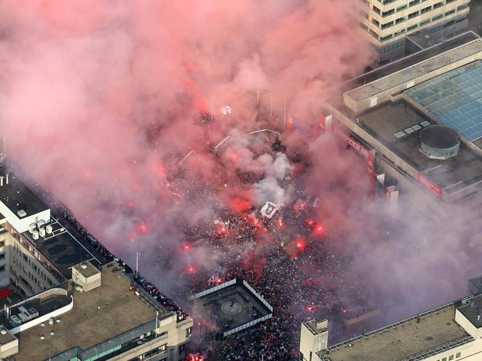 PSV vierde feest om het kampioenschap van 2018 te vieren.
