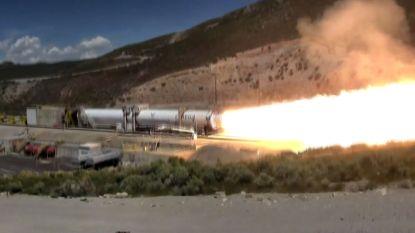 Test nieuwe raket loopt niet helemaal volgens plan