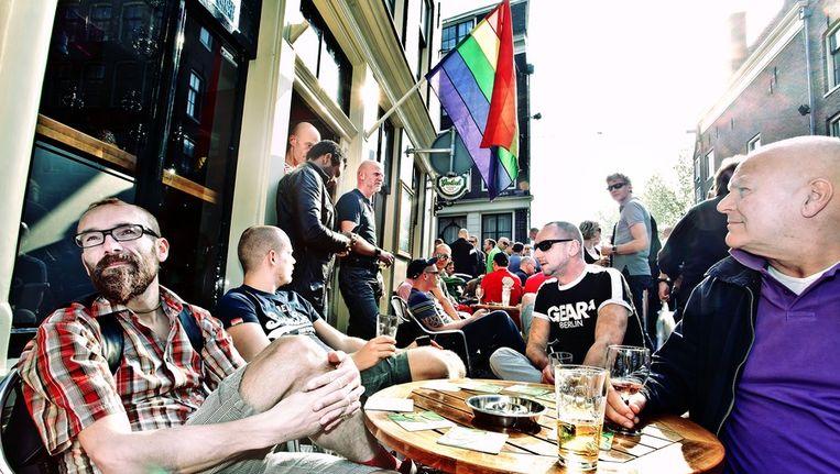 Door klachten van de buren behoort café De Engel tot de meest overlastgevende horeca in de binnenstad. Beeld Jan van Breda
