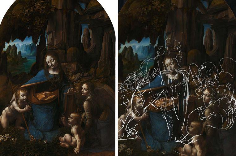 Oorspronkelijk zag de compositie van 'Virgin on the rocks' of 'Maagd op de rotsen' er ietwat anders uit. Dat ontdekten onderzoekers van The National Gallery in Londen.