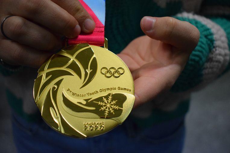 De gouden medaille van Evy Poppe.