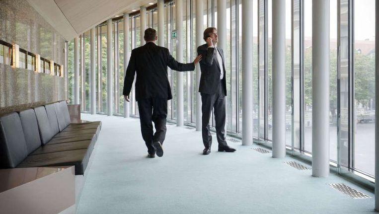 De wandelgang rond de vergaderzaal van de Tweede Kamer. ©ANP Beeld
