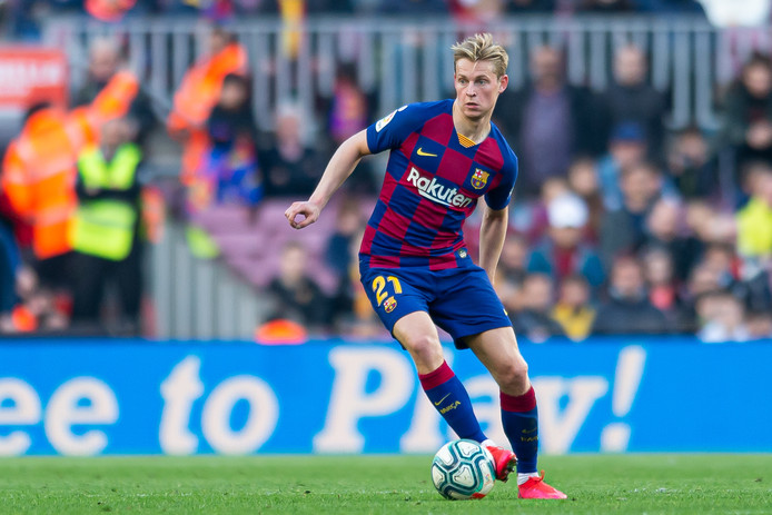 Frenkie de Jong in actie namens FC Barcelona.