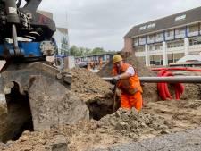 Kijken naar het dr. Reilinghplein; een flinke zandbak vol met werkmannen