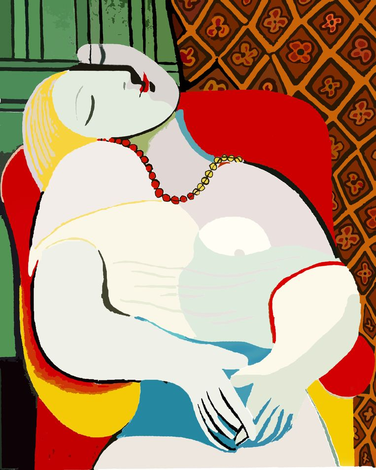 Droom - Pablo Picasso Beeld Afp