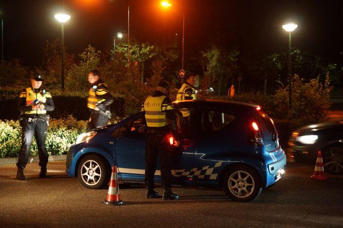 Politiecontrole in Kaatsheuvel.