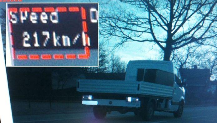 Een foutieve meting van 217 kilometer per uur