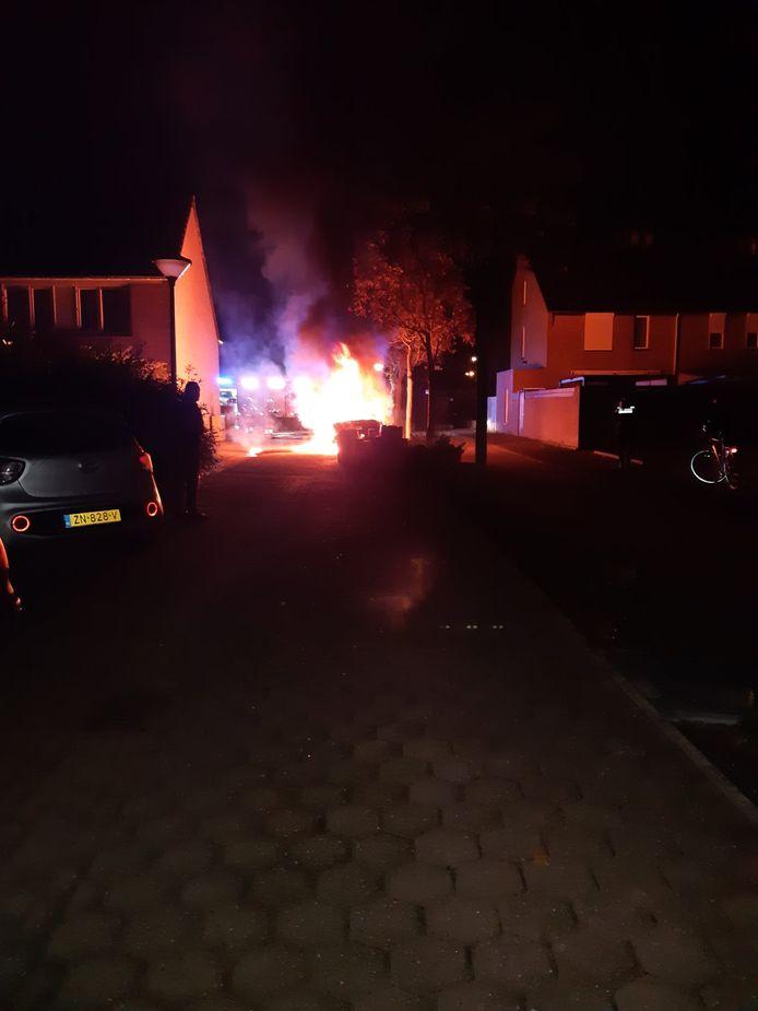 Autobrand in Veghel