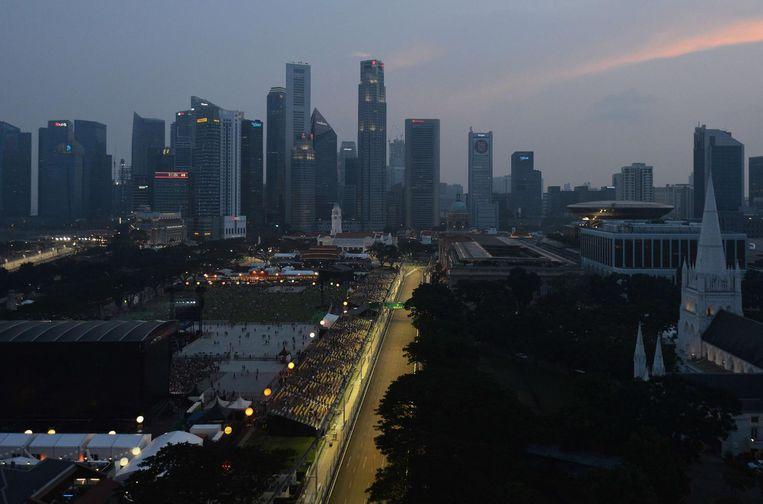 Zicht op Singapore. Beeld anp