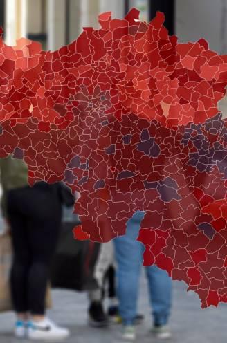 IN KAART. Brusselse ziekenhuizen nu boven piek van april, sterkste stijgingen besmettingen in Vlaanderen. Bekijk hier de coronasituatie in uw regio